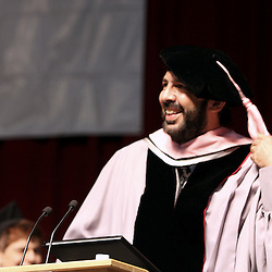 Songwriter and producer Juan Luis Guerra from Dominican Republic, smiles while recive a honorary doctor degree from Berklee College's Commencement, 2009