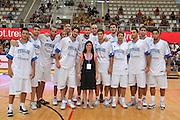 Trento 27 Luglio 2012 - Trentino Basket Cup - Italia Montenegro - <br /> Nella Foto : la Nazionale Italiana e Karen Putzer<br /> Foto Ciamillo/M.Gregolin
