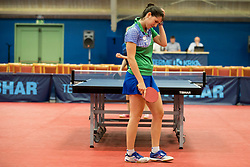 Alex Galic of Slovenia during Qualification match between National teams of Slovenia and Ukraina for ITTF European Championship 2019, on May 22, 2018 in Otocec, Slovenia. Photo by Urban Urbanc / Sportida