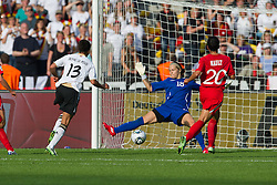 26.06.2011, Olympiastadion Berlin, Berlin, GER, FIFA Women's Worldcup 2011, Gruppe A,  Deutschland (GER) vs. Canada (CAN), im Bild Celia Okoyino a Mbabi (GER13 #14, Bad Neuenahr) erzielt gegen 1 Karina LeBLANC das 2:0 re 20 Marie-Eve NAULT // during the FIFA Women's Worldcup 2011, Pool A, Germany vs Canada on 2011/06/26, Olympiastadion, Berlin, Germany.   EXPA Pictures © 2011, PhotoCredit: EXPA/ nph/  Kokenge       ****** out of GER / SWE / CRO  / BEL ******