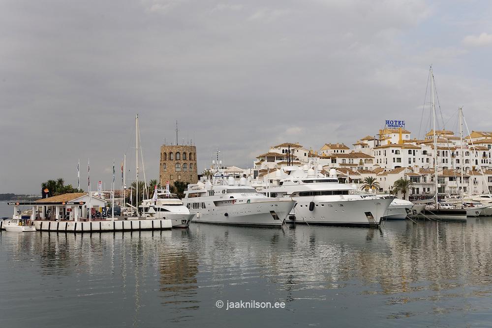 Yacht at Puerto Banus, Costa del Sol, Spain