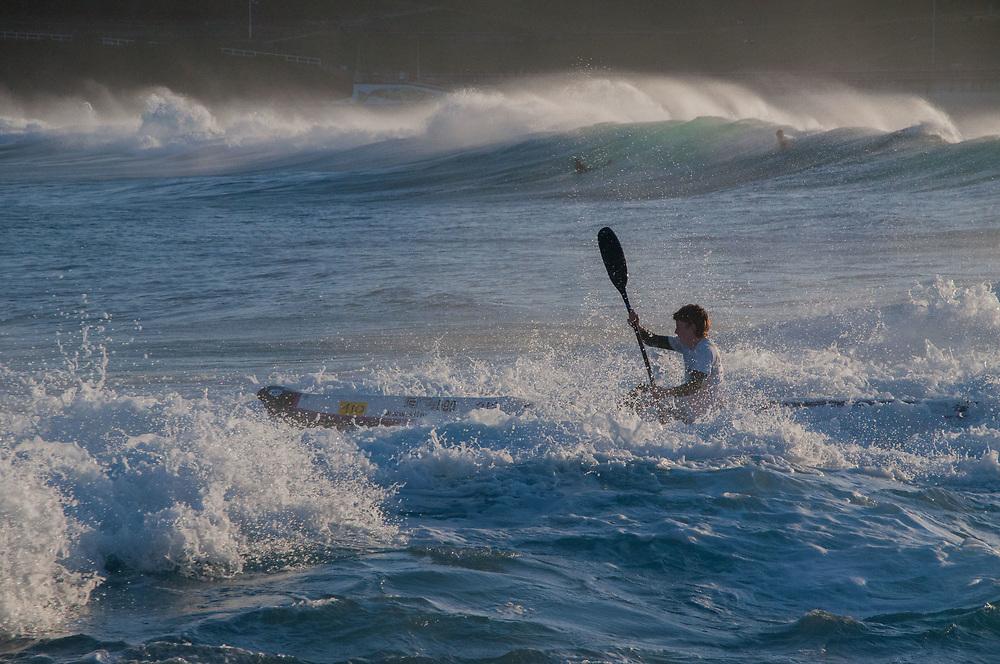 Rescue Kayaker, Bondi Beach, Sydney, New South Wales, Australia