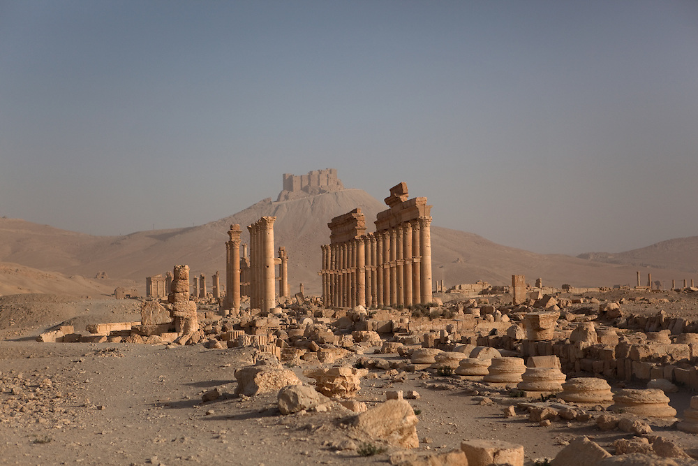Remains of Colonnaded street, Palmyra, Syria