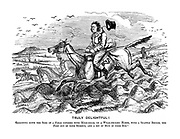 Truly Delightful! Galloping down the side of a field covered with mole-hills, on a weak-necked horse, with a snaffle bridle, one foot out of your stirrup, and a bit of mud in your eye!