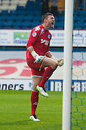 Richard O'Donnell of Wigan Athletic is furious after fumbling the ball in to his own net for the opening goal during the FA Cup match at Gigg Lane, Bury<br /> Picture by Matt Wilkinson/Focus Images Ltd 07814 960751<br /> 07/11/2015