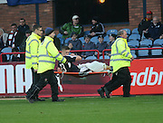 Dundee&rsquo;s Rhys Healy leaves the field on a stretcher - Dundee v Partick Thistle, Ladbrokes Premiership at Dens Park<br /> <br />  - &copy; David Young - www.davidyoungphoto.co.uk - email: davidyoungphoto@gmail.com