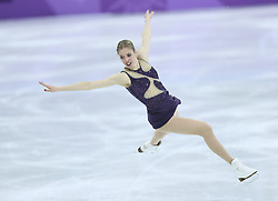PYEONGCHANG, Feb. 12, 2018  Carolina Kostner of Italy competes during the ladies' single free skating of figure skating team event at the 2018 PyeongChang Winter Olympic Games, in Gangneung Ice Arena, South Korea, on Feb. 12, 2018. Italy won the fourh place of figure skating team event with 56 points in total. (Credit Image: © Ju Huanzong/Xinhua via ZUMA Wire)