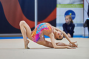 Alessia Leone from Rhytmic School team during the Italian Rhythmic Gymnastics Championship in Padova, 25 November 2017