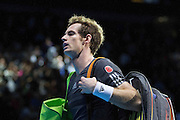 Great Britain's Andy Murray at the end of his match at the Barclays ATP World Tour Finals at the O2 Arena, London, United Kingdom on 9 November 2014. © Phil Duncan | Pro Sports Images