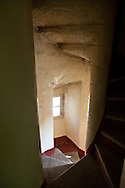 inside the old lighthouse of senetoza , on the Wild coast near Tizzano Corsica south  France    /  interieur du phare de senetoza sur la cote sauvage pres de Tizzano  Corse du sud  France