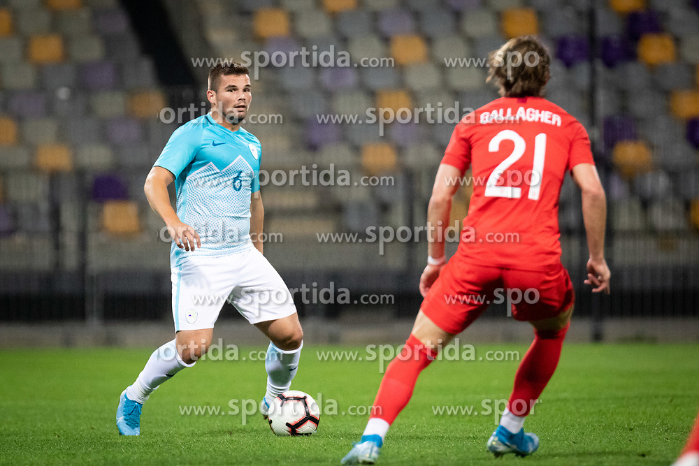Janez Pišek of Slovenia during friendly Football match between U21 national teams of Slovenia and England, on October 11, 2019 in Ljudski Vrt, Maribor, Slovenia. Photo by Blaž Weindorfer / Sportida