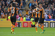 Hull City midfielder Sam Clucas (11) celebrates Scoring goal to go 1-3  during the Premier League match between Hull City and Tottenham Hotspur at the KCOM Stadium, Kingston upon Hull, England on 21 May 2017. Photo by Ian Lyall.