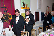 SIR JOHN MADEJSKI; STEPHEN FRY, Annual Dinner. Royal Academy of Arts. Piccadilly. London. 8 June 2010. -DO NOT ARCHIVE-© Copyright Photograph by Dafydd Jones. 248 Clapham Rd. London SW9 0PZ. Tel 0207 820 0771. www.dafjones.com.