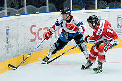 Lukas Martinka of Slovakia vs Youssef Reiner of Austria at IIHF In-Line Hockey World Championships qualification match between National teams of Germany and Great Britain on July 1, 2010, in Karlstad, Sweden. (Photo by Matic Klansek Velej / Sportida)