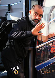 Wolverhampton Wanderers manager Nuno Espirito Santo arriving at the Vitality Stadium before the game