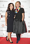 27/9/14***NO REPRO FEE*** Pictured is Fiona Gratzer and Sonya Reynolds as Dublin's ladies turn out for a fashionable Cocktail Evening in aid of the Caroline Foundation Pic: Marc O'Sullivan  Friday 26th September: Last night saw a slice of high-end NY style hit Dublin, arriving at The Four Seasons.  Stylish ladies turned out in force to support the event and to mark the start of Breast Cancer Awareness month. The fundraiser, which was a sell-out was the brainchild of Paula McClean a breast cancer survivor and tireless fundraiser. Combining her love of fashion and a good party, the first Cocktail Club Event was born. With a great night of style, fun and raising a lot of money for cancer research, it is no wonder it was a sell- out.  The lucky ladies were treated to a special fashion Show by Brown Thomas who show cased their designers in a salon style. The show featured a selection of key looks mirroring trends from the international runways. The mood for AW14 is easy, elegant, casual and chic. New labels to love include Jenny Packham, Valentino, Osman, Brunello Cucinelli and Moschino. Curated by the affable Michelle Curtain, the clothes were a show-stopper. In keeping with the era of the collection, the evening had a distinctive New York retro theme. Signature 'Original' cocktails from The Four Seasons, featuring Tanqueray London Dry Gin and Ketel-One with the trademark Copper Kettle serve, were the order of the day with eclectic tunes from club DJ Dom to keep the party going. All the lucky ladies went home with a luxury La Bougie Candle. The inaugural Cocktail Club in aid of the Caroline Foundation is the brainchild of Paula McClean a breast cancer survivor and tireless fundraiser. Commenting on the evening, 'Breast Cancer and the Caroline Foundation are very close to my heart and combining this with my love of fashion and a good party, we came up with the first Cocktail Club. We are looking forward to a great night of style, fun and raising a lot of money for