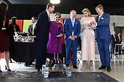 Staatsbezoek aan Luxemburg dag 2 / State visit to Luxembourg day 2<br /> <br /> Op de foto / On the photo:Koning Willem-Alexander, koningin Maxima, Groothertog Henri en Groothertogin Maria Teresa tijdens een bezoek aan de universiteit van Luxemburg en Campus Belval. /// King Willem-Alexander, Queen Maxima, Grand Duke Henri and Grand Duchess Maria Teresa during a visit to the University of Luxembourg and Campus Belval.
