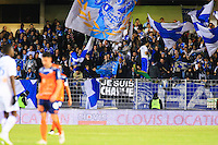 Supporters Marseille - Banderole Hommage Charlie Hedbo - 09.01.2015 - Montpellier / Marseille - 20eme journee de Ligue 1<br />