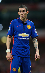 LONDON, ENGLAND - Saturday, November 22, 2014: Manchester United's Angel Di Maria during the Premier League match against Arsenal at the Emirates Stadium. (Pic by David Rawcliffe/Propaganda)