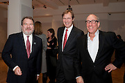 MALCOLM BARBER;  ROBERT BROOKS; ALEX LIFSCHUTZ; , Bonhams Auction house hosts festive drinks to preview the first phase of the reconstruction of its Mayfair Headquarters - due for completion in 2013.<br /> Bonhams, 101 New Bond Street, London, 19 December 2011.