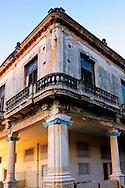 Cracking building in Havana Vedado, Cuba.