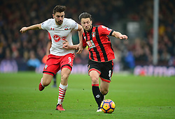 Harry Arter of Bournemouth battles for the ball with Jay Rodriguez of Southampton - Mandatory by-line: Alex James/JMP - 18/12/2016 - FOOTBALL - Vitality Stadium - Bournemouth, England - Bournemouth v Southampton - Premier League