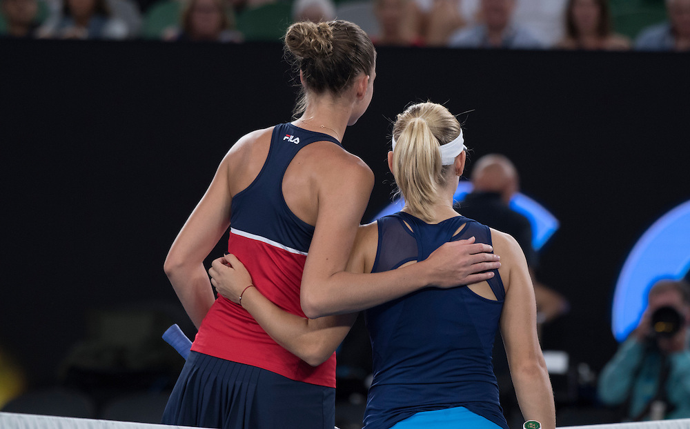 Daria Gavrilova of Australia on day eight of the 2017 Australian Open at Melbourne Park on January 23, 2017 in Melbourne, Australia.<br /> (Ben Solomon/Tennis Australia)