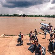Brazilian shoppers coming back from Guayaramerin, Bolivia