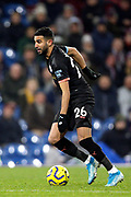 Manchester City midfielder Riyad Mahrez (26) during the Premier League match between Burnley and Manchester City at Turf Moor, Burnley, England on 3 December 2019.