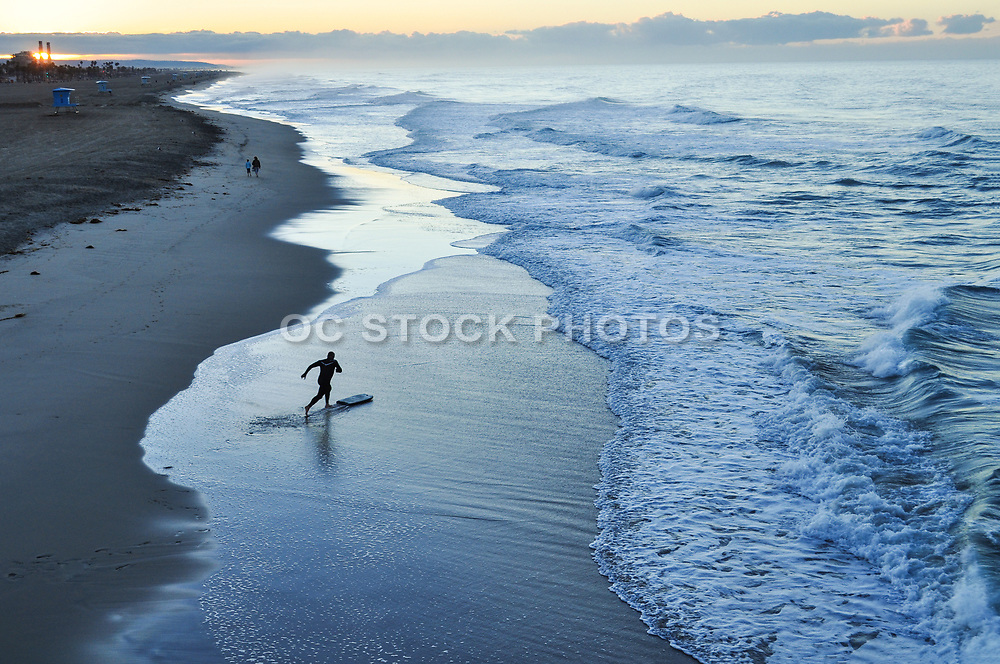 Skim Boarding in Huntington Beach