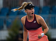 Dayana Yastremska of the Ukraine celebrates the victory during the quarter-finals at the 2020 Adelaide International WTA Premier tennis tournament against Donna Vekic of Croatia. Photo Rob Prange / Spain ProSportsImages / DPPI / ProSportsImages / DPPI