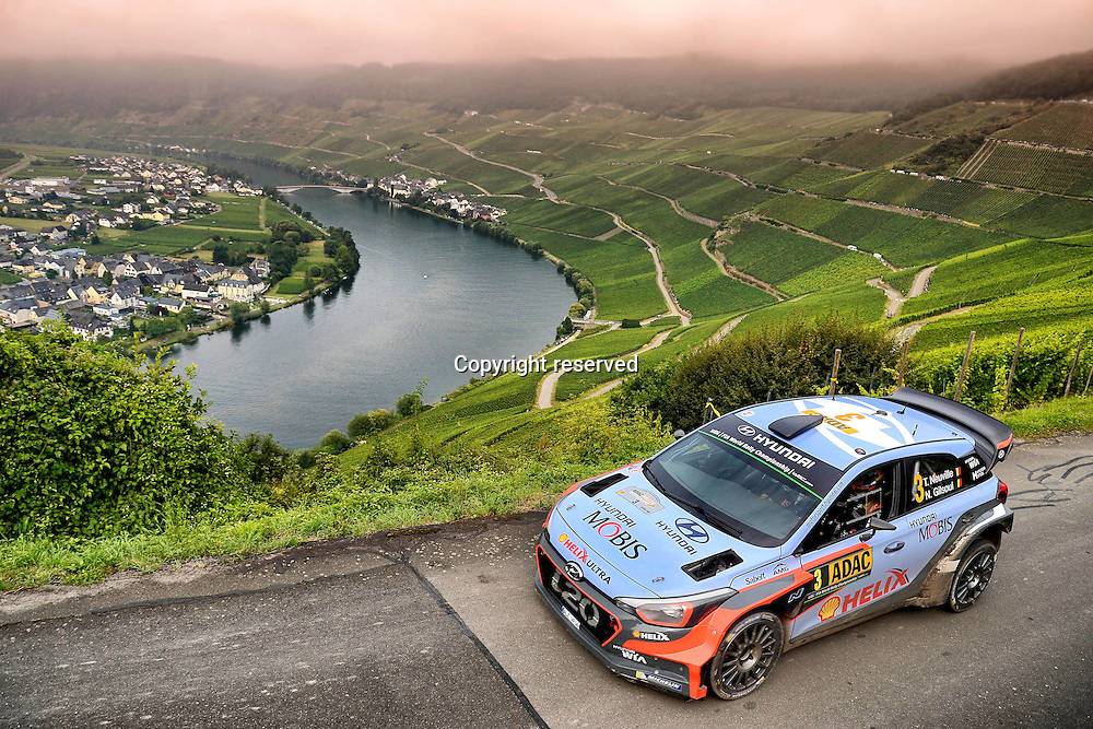 19.08.2016. Mosel, Germany. WRC ADAC rally of Germany, SS3 and SS4.  Thierry Neuville ( BEL ) - Nicolas Gilsoul ( BEL ) - Hyundai I20