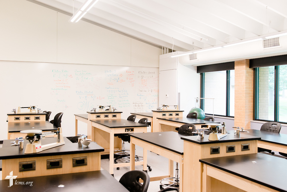 A photograph of the physics lab in the renovated science building at Concordia University Ann Arbor on Thursday, July 3, 2014, in Ann Arbor, Mich. LCMS Communications/Erik M. Lunsford