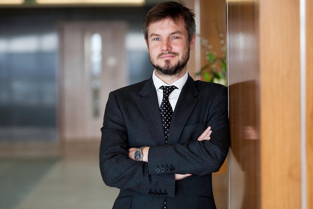 City banker portrait