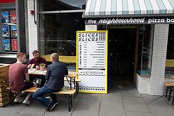 Exterior of Neighbourhood Pizza Bar in Old Town of Edinburgh, Scotland, UK