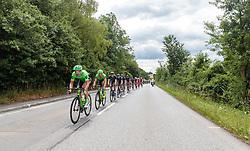 04.07.2017, Pöggstall, AUT, Ö-Tour, Österreich Radrundfahrt 2017, 2. Etappe von Wien nach Pöggstall (199,6km), im Bild das Hauptfeld, Peloton // Peloton during the 2nd stage from Vienna to Pöggstall (199,6km) of 2017 Tour of Austria. Pöggstall, Austria on 2017/07/04. EXPA Pictures © 2017, PhotoCredit: EXPA/ JFK