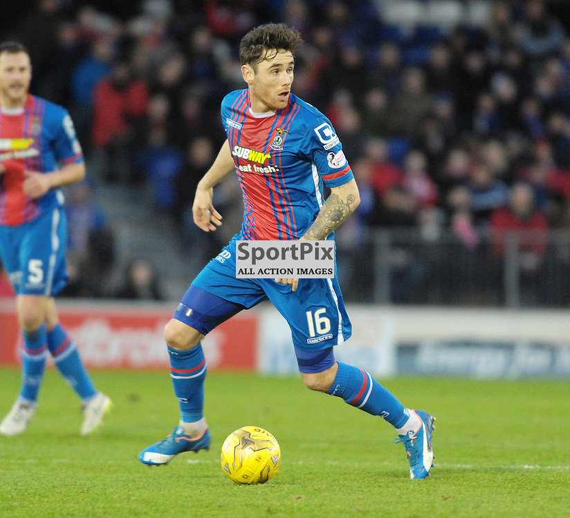 Greg Tansey (ICT, Blue &amp; Red) <br /> <br /> Inverness Caledonian Thistle v Ross County, Ladbroke's Premiership, Saturday 2nd January 2016<br /> <br /> (c) Alex Todd | SportPix.org.uk