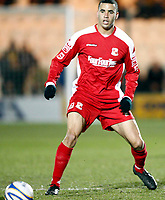 Anthony McNamee of Swindon Town Colchester United v Swindon Town at  Weston Homes Community Stadium Colchester Coca-Cola Div 1<br /> 10/03/2009. Credit Colorsport  / Kieran Galvin