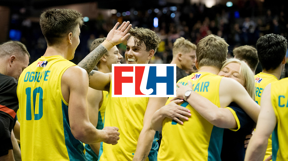 BERLIN - Indoor Hockey World Cup<br /> Quarterfinal 4: Australia - Belgium<br /> foto:<br /> WORLDSPORTPICS COPYRIGHT FRANK UIJLENBROEK