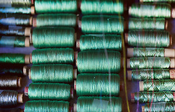 Spools of Colourful Embroidery Thread