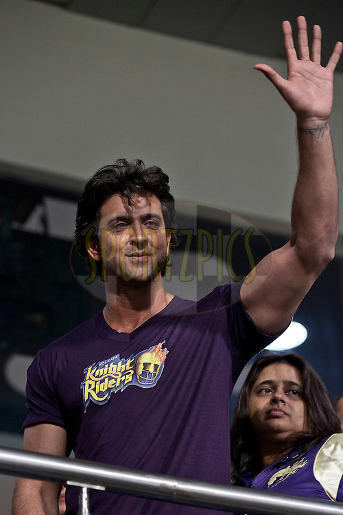 Hrithik Roshan during match 48 of the Indian Premier League ( IPL ) between the Kolkata Knight Riders and the Chennai Super Kings, Chennai held at Eden Gardens Cricket Stadium in Kolkata, India on the 7th May 2011..Photo by Saikat Das/BCCI/SPORTZPICS.