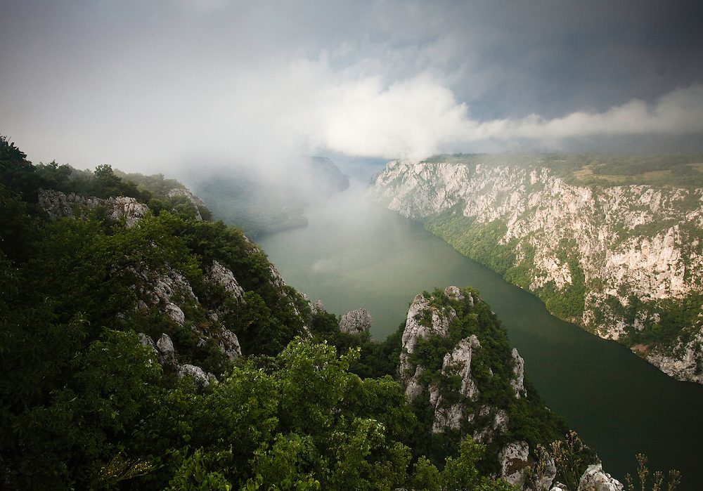 Canyon landscape of the Iron gate passage, National Park Djerdab, Serbia