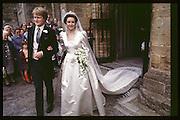Charlotte Monckton, wedding to Guy Morrison, Dorchester. 24/09/83© Copyright Photograph by Dafydd Jones 66 Stockwell Park Rd. London SW9 0DA Tel 020 7733 0108 www.dafjones.com