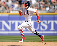 CHICAGO - JULY 01:  Adam Engel #41 of the Chicago White Sox runs the bases against the Texas Rangers on July 1, 2017 at Guaranteed Rate Field in Chicago, Illinois.  The Rangers defeated the White Sox 10-4.  (Photo by Ron Vesely) Subject:   Adam Engel