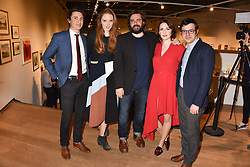 Left to right, Tom Rosenthal, Lily Cole, Matt Berry, Charlotte Ritchie and Simon Bird at The Philanthropist After Party held at The Mall Galleries, 17 Carlton House Terrace, London England. 20 April 2017.