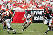 TAMPA, FL - OCTOBER 15:  Quarterback Bruce Gradkowski #7 of the Tampa Bay Buccaneers runs the ball on a key drive late in the game against the Cincinnati Bengals at Raymond James Stadium on October 15, 2006 in Tampa, Florida. The Bucs defeated the Bengals 14-13. (©Paul Anthony Spinelli) *** Local Caption *** Bruce Gradkowski