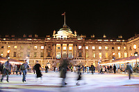 ice skating rink at somerset house london