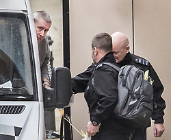**2018 Pictures of the year by London News Pictures**<br /> © Licensed to London News Pictures. 07/02/2018. London, UK. JOHN WORBOYS peers round as he exits his prison van as he is escorted in handcuffs into the High Court in London where two of his victims are due to challenge the decision to release him from prison. London Mayor Sadiq Khan will also urge Sir Brian Leveson and Mr Justice Garnham to allow judicial review action against the Parole Board. Photo credit: Peter Macdiarmid/LNP