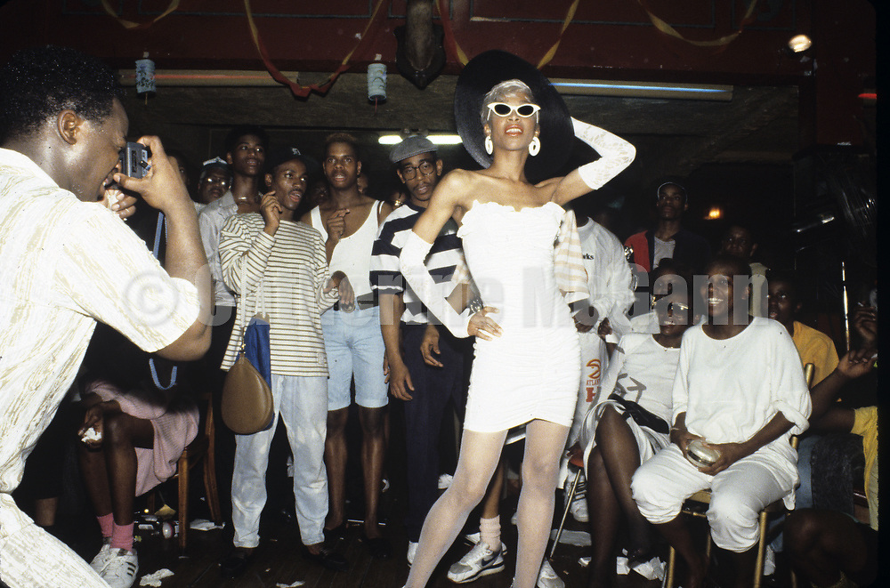 1988:   Drag ball in Harlem, New York City in 1988.