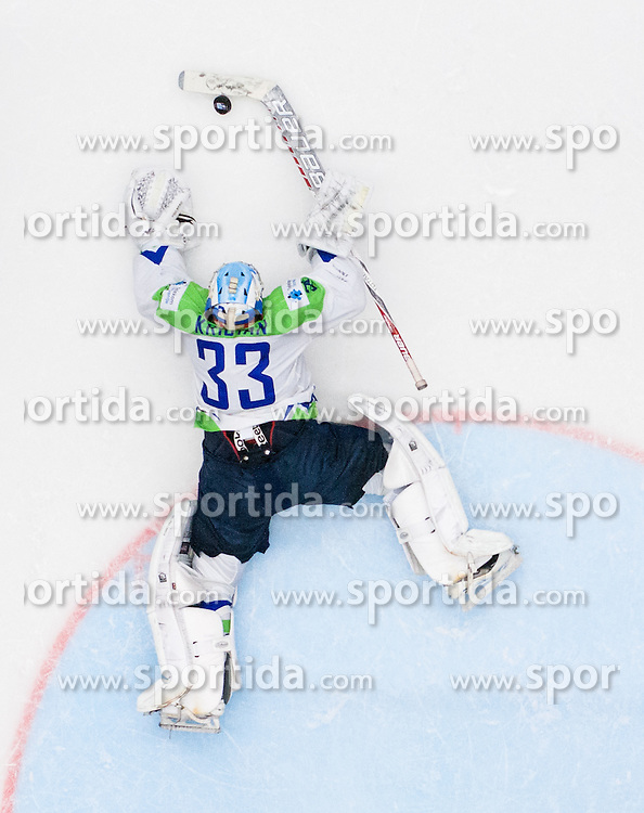 Robert Kristan of Slovenia during Ice Hockey match between Slovakia and Slovenia at Day 5 in Group B of 2015 IIHF World Championship, on May 5, 2015 in CEZ Arena, Ostrava, Czech Republic. Photo by Vid Ponikvar / Sportida